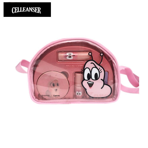 CELLEANSER Larva Pink Pure Make Up Set [LARVA Limited Edition]